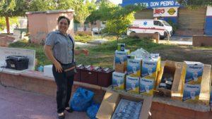 , Alcalde de Jaquimeyes instala nuevo sistema de alumbrado en parque municipal.