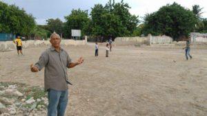 , Alcalde demanda del presidente construcción Play deportivo.