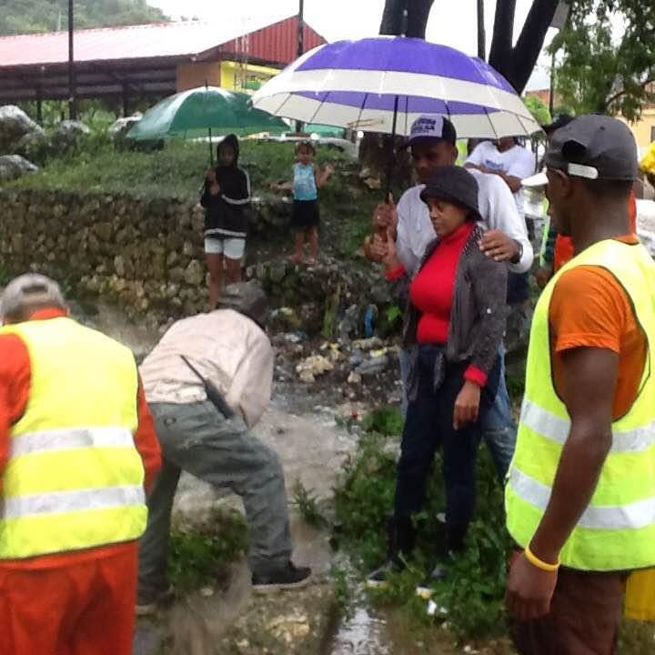 , Alcaldesa de Polo Danilsa Cuevas mantiene monitoreo constante de las aéreas vulnerables.