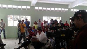 , Ministro de agricultura  vista el municipio Jaquimeyes.