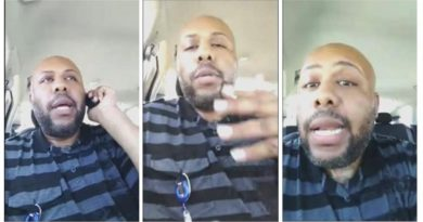 A man who identified himself as Stevie Steve is seen in a combination of stills from a video he broadcast of himself on Facebook in Cleveland, Ohio, U.S. April 16, 2017.  Stevie Steve/Social Media/ Handout via REUTERS   ATTENTION EDITORS - THIS IMAGE WAS PROVIDED BY A THIRD PARTY. EDITORIAL USE ONLY. NO RESALES. NO ARCHIVE     TPX IMAGES OF THE DAY