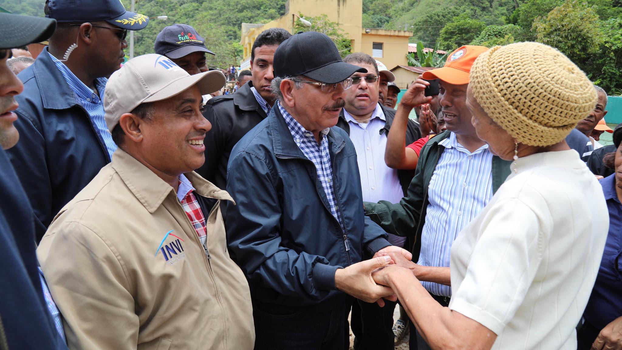 , Danilo vino al Sur; escucha a afectados por lluvias y dispone solidaridad