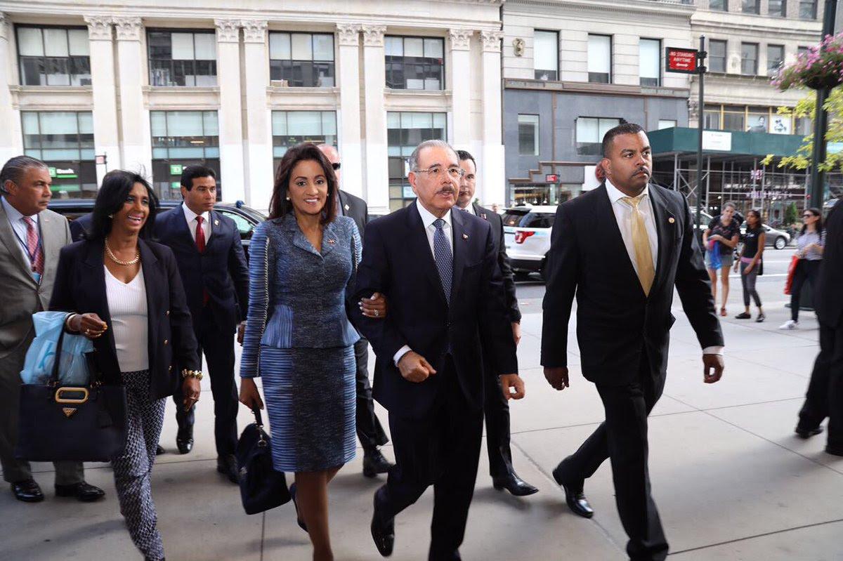 , Danilo Medina llega a Nueva York para participar en 72va. Asamblea General ONU