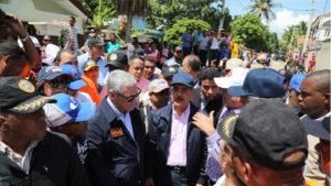 , Danilo recorre zonas afectadas de Montecristi y Duarte. Garantiza solución definitiva a comunidades