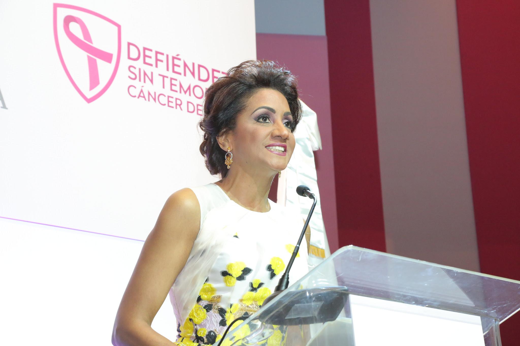 , Para prevenir y derrotar el cáncer, Primera Dama llama mujeres dominicanas a estar alertas