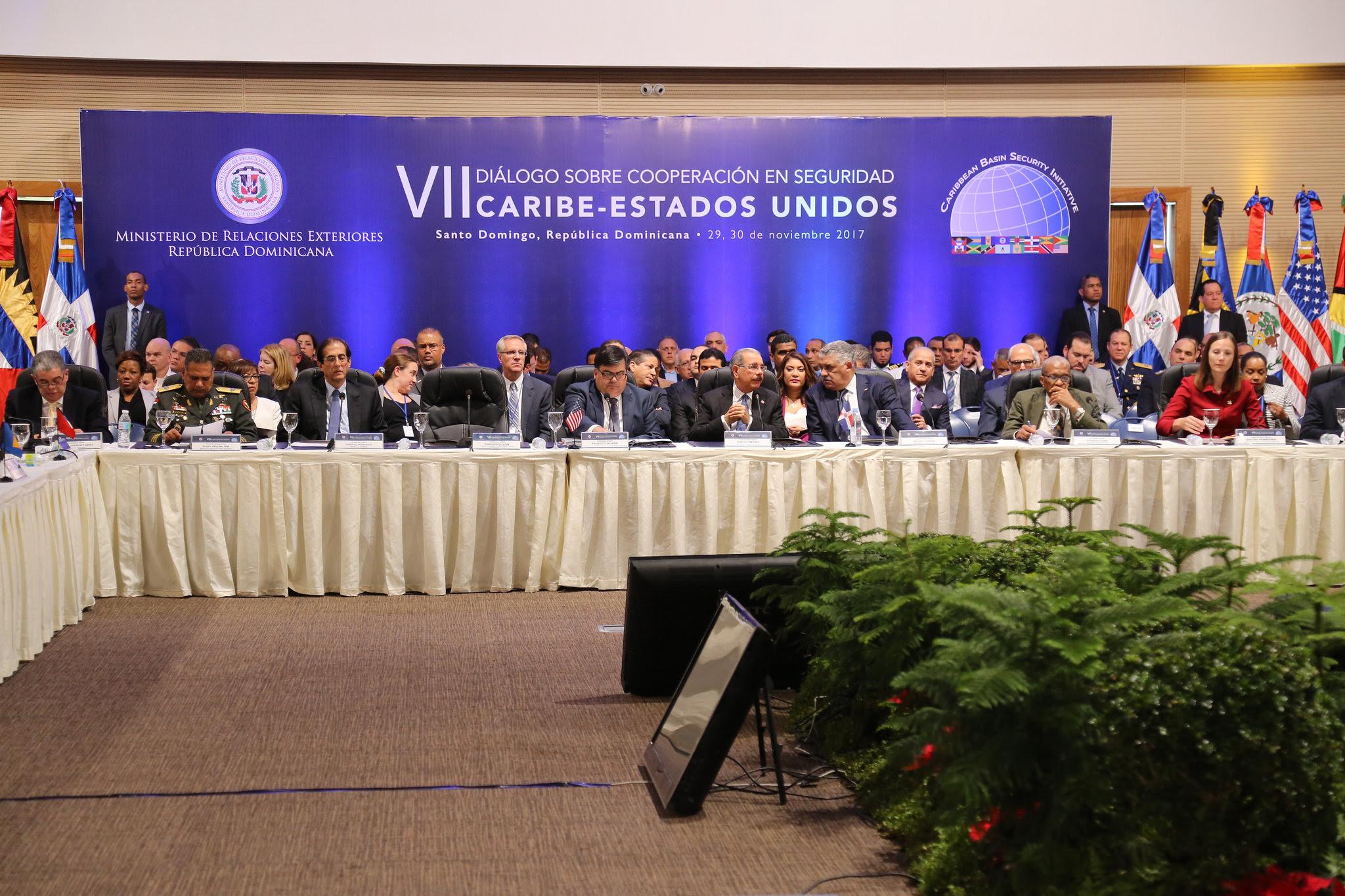 , Danilo Medina encabeza inauguración VII Diálogo sobre Cooperación en Seguridad Caribe-Estados Unidos