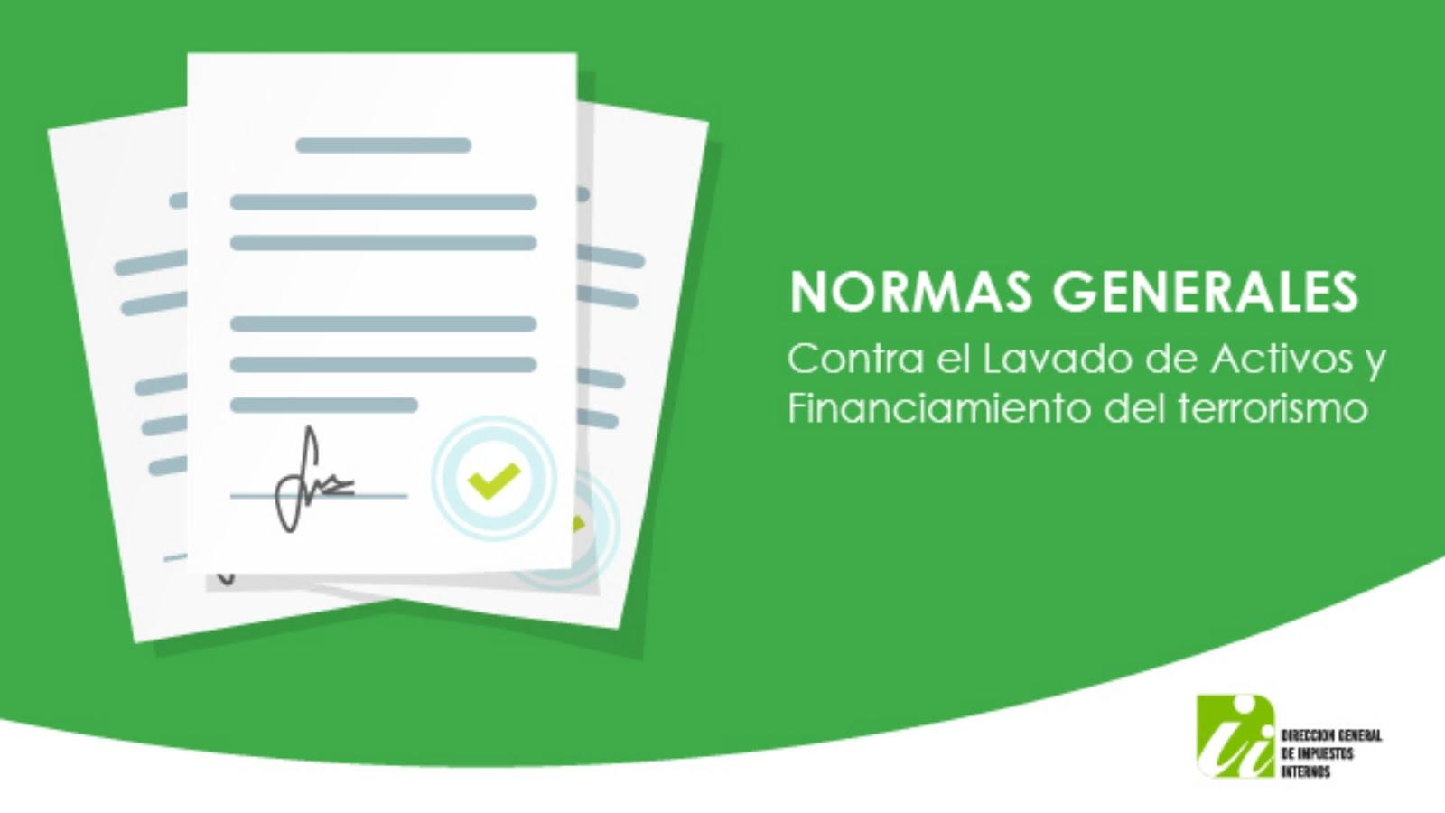 , Dirección General Impuestos Internos publica cinco normas generales antilavado