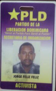, Jorge Abdala Féliz, total entrega a la vida partidaria.