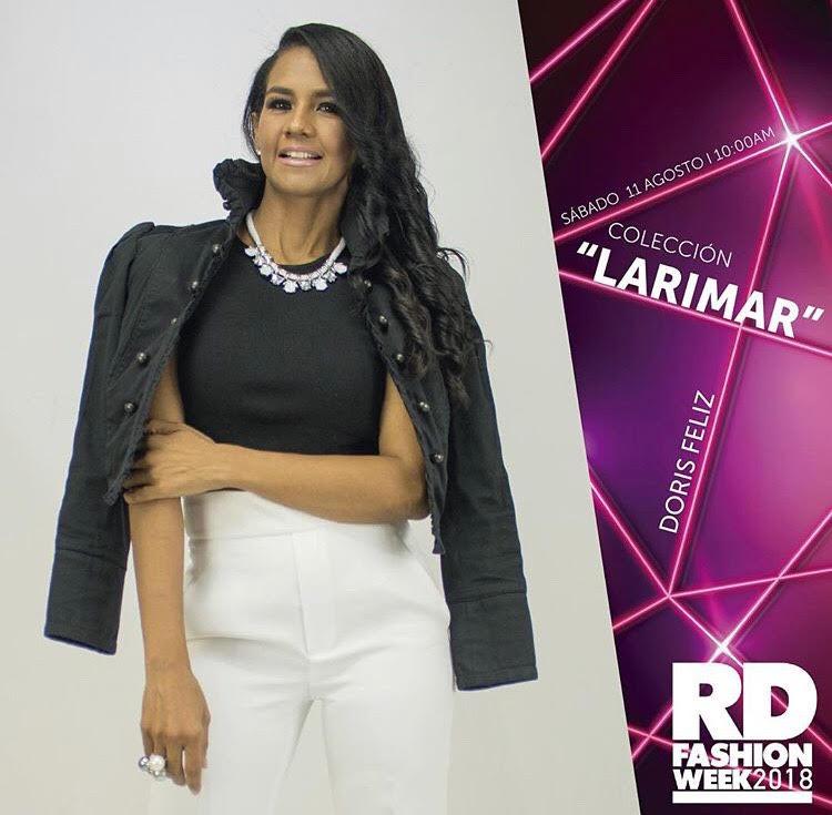 , Diseñadora Doris Feliz presenta colección Larimar en el Fashion Week RD 2018