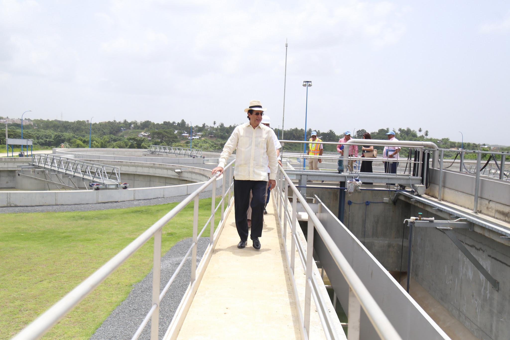 , Montalvo anuncia entrada en operación de planta de aguas residuales del río Ozama