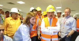 , Presidente Medina enciende caldera de Punta Catalina