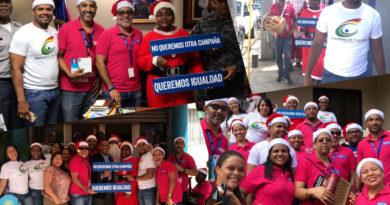 Plan Internacional y el Ministerio de Cultura en Barahona realizan asalto navideño