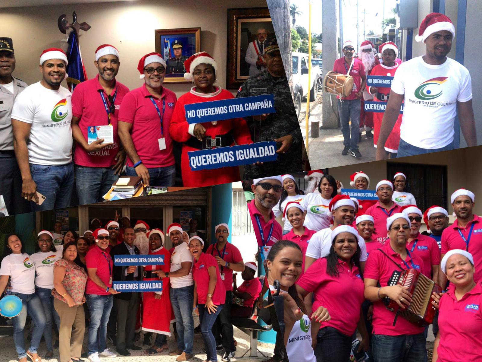 , Plan Internacional y el Ministerio de Cultura en Barahona realizan asalto navideño