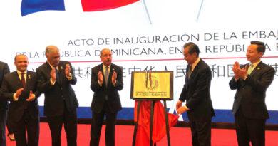 Danilo Medina inaugura Embajada República Dominicana en República Popular China