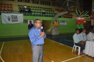 Torneo baloncesto es dedicado al ministro Andrés Navarro