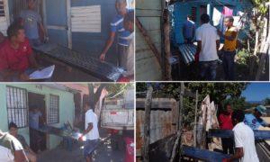 Sectores de Santa Cruz Barahona reciben materiales contemplados en presupuesto participativo.