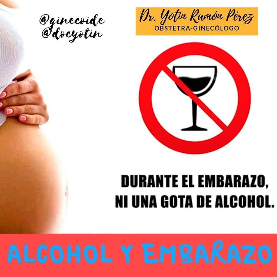 , No debes tomar ni una gota de Alcohol durante el embarazo