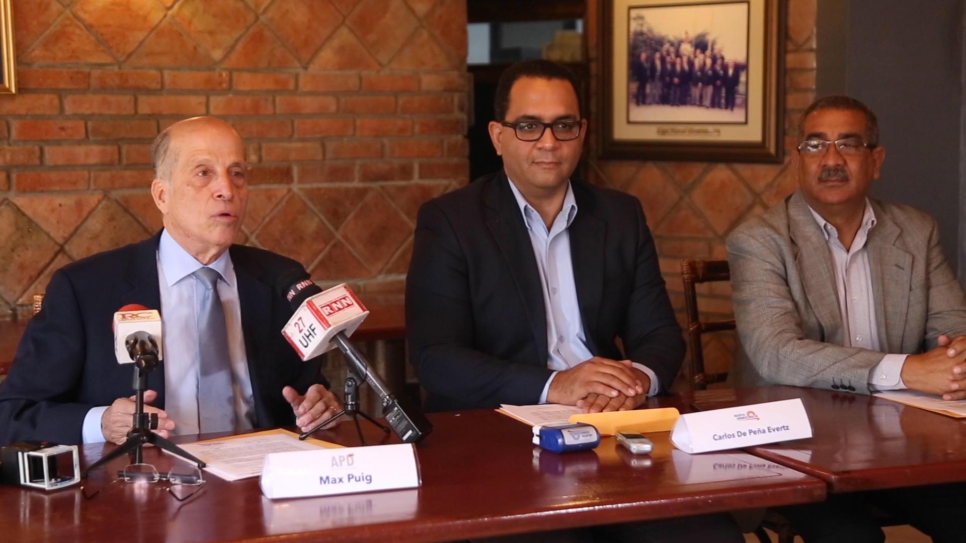 , APD firma acuerdo político: Anuncia precandidatura de Carlos De Peña Evertsz como Senador por el DN