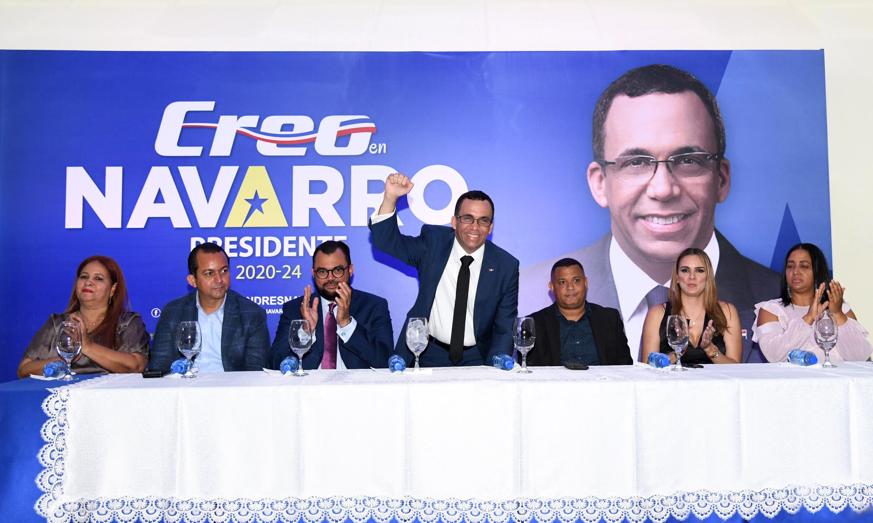 , Movimiento Creo RD realizó acto en apoyo aspiraciones de Navarro