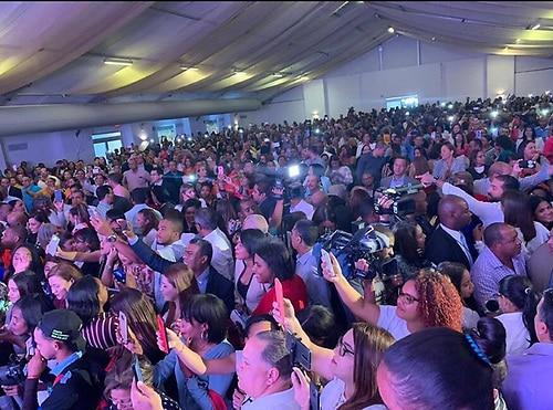 Funcionarios y empleados del sector salud participan en mitin pro reelección de Danilo, Funcionarios y empleados del sector salud participan en mitin pro reelección de Danilo