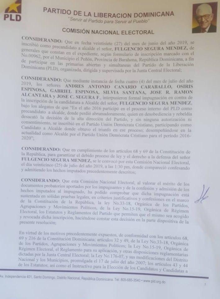 , Verdades y consecuencias de la política cabraleña.