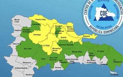 COE pone 20 provincias bajo alerta