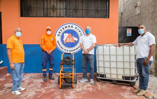 , CAC entrega donativo a Defensa Civil para seguir combatiendo la pandemia
