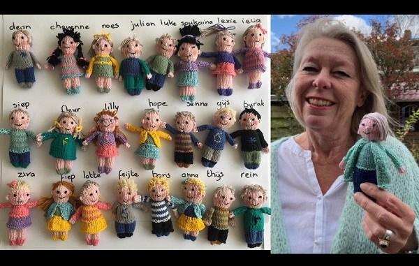 Maestra extrañaba tanto a sus alumnos que los tejió en forma de muñequitos, Maestra extrañaba tanto a sus alumnos que los tejió en forma de muñequitos