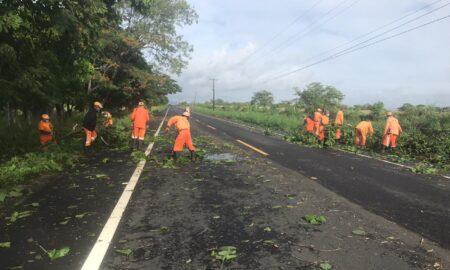 Brigadas de MOPC habilitan al tránsito vías que fueron obstruidas por el paso de la tormenta Isaías