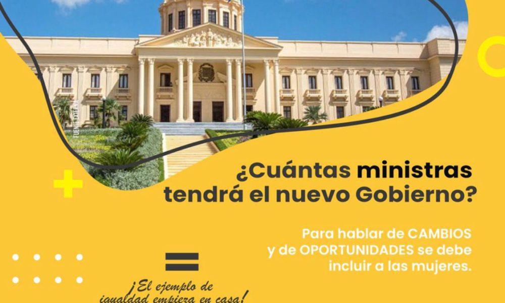 Piden a Luis Abinader formar gabinete con participación equitativa de mujeres y hombres, Piden a Luis Abinader formar gabinete con participación equitativa de mujeres y hombres