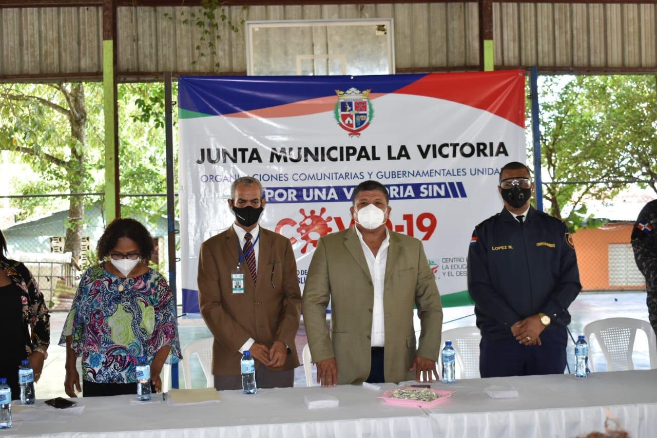 """, Impactarán 15 comunidades del Distrito Municipal La Victoria mediante implementación de plan """"Por una Victoria Sin Covid"""""""