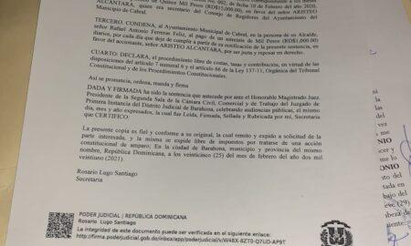Alcalde de Cabral se niega al pago de pensión ratificada por sentencia
