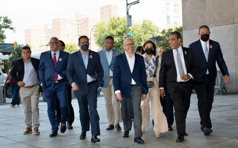 , Francisco Domínguez Brito se reúne con el Senador de Nueva York, Adriano Espaillat