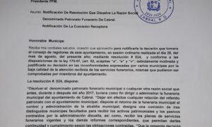 , Concejo Municipal de Cabral disuelve Patronato De Funeraria